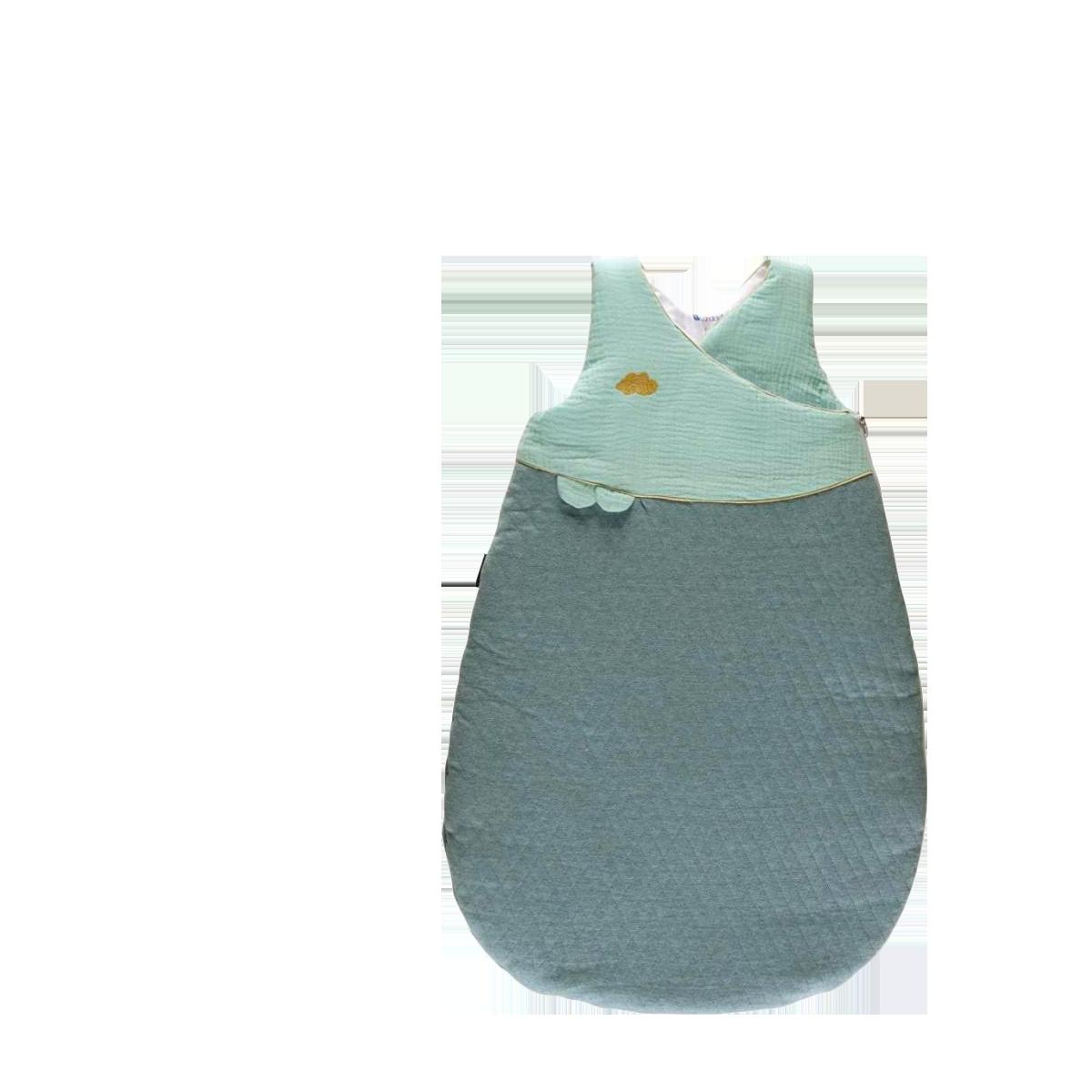 Gigoteuse bébé Douillette naissance 72cm chaude jersey matelassé/lange Vert - Candide